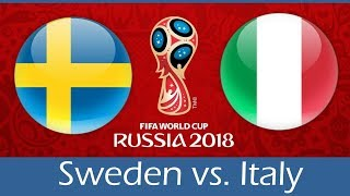 Sweden vs. Italy | 10/11/2017 | FIFA World Cup 2018 Playoffs