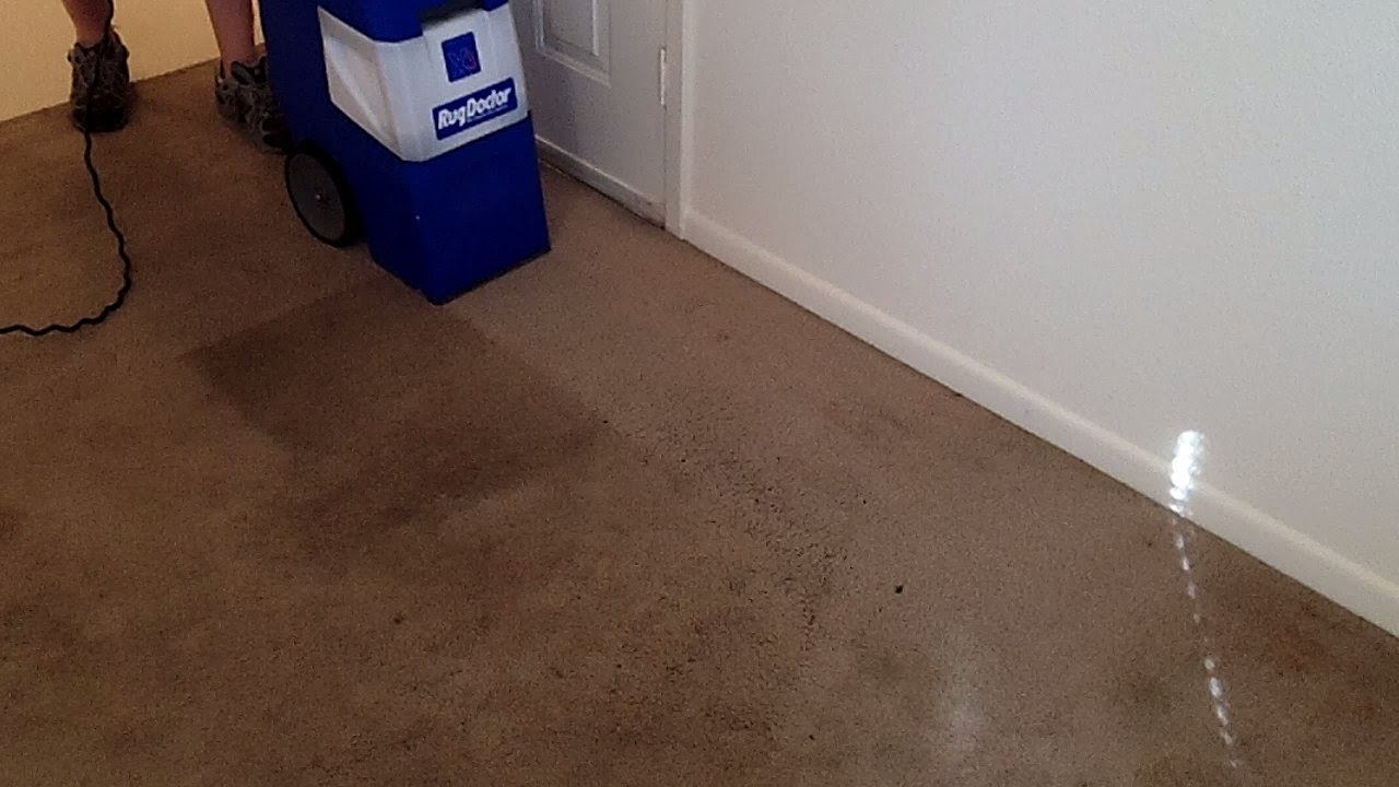 Rug Doctor X 3 Cleaning Badly Stained Carpet