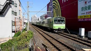 バイノーラル録音 201系快速奈良行き 志紀駅低速通過