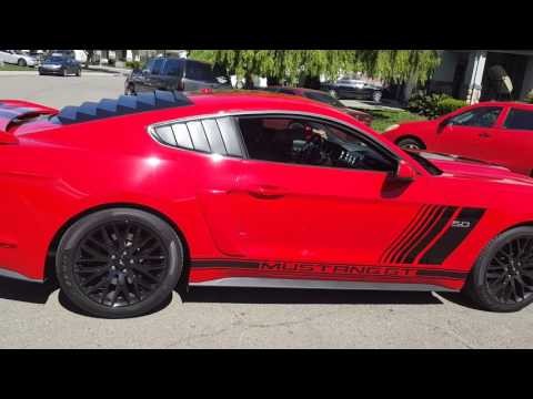 2016 Ford Mustang Gt 5 0 Custom Rally Stripes Youtube