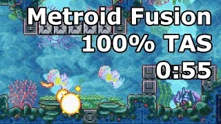 """[TAS] GBA Metroid Fusion """"100%"""" in 1:35:19.3 (0:55 in-game) by BioSpark"""