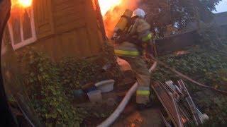 OSP Nałęczów | Pożar drewnianego budynku mieszkalnego