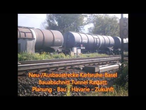 Rheintalbahn - Tunnel Rastatt - Chronik der Havarie und Sperrung 12.08. bis 02.10.2017