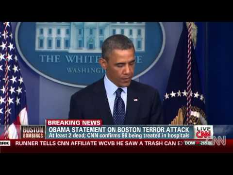 President Obama - Boston Marathon Bomb Explosion