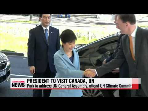 President Park Geun-hye embarks on trip to Canada, United Nations   박 대통령, 캐나다.유