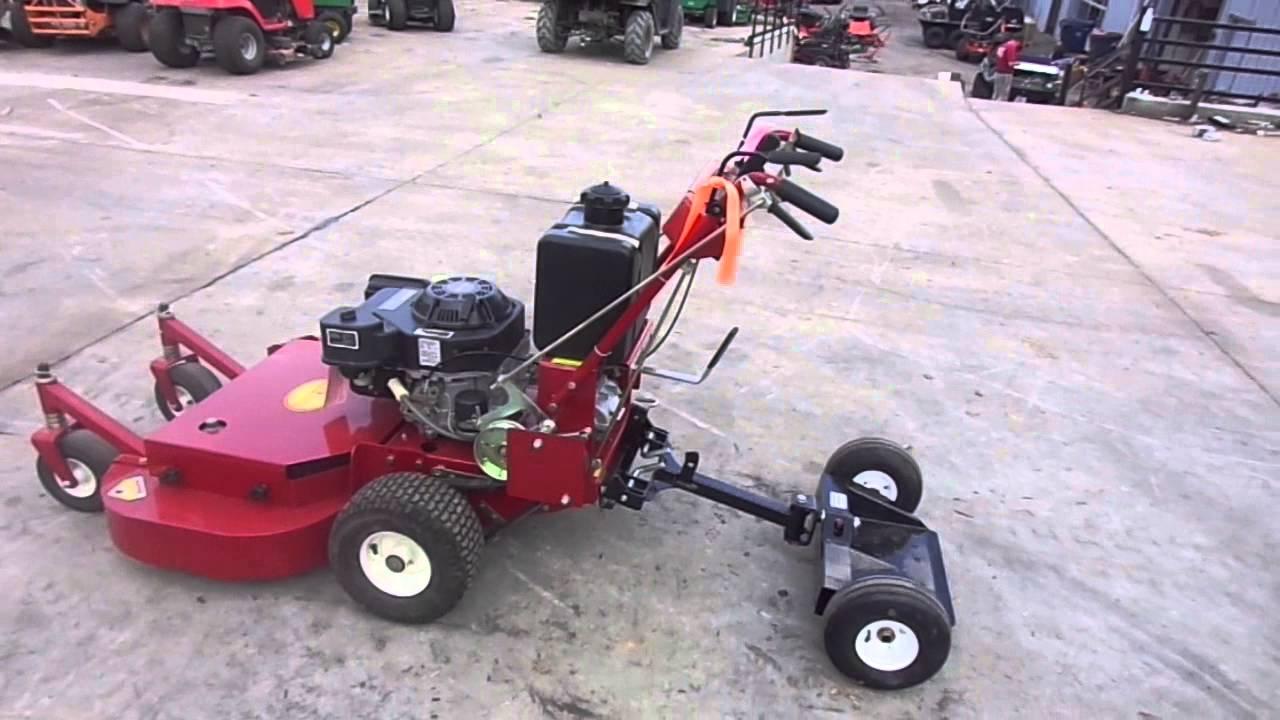 Stand Behind Lawn Mower >> Red Hawk 36 Belt Drive Walk Behind Lawn Mower 15 Hp Kohler 2 Wheel Sulky