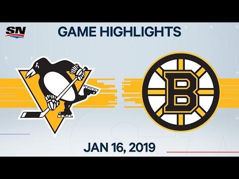 NHL Highlights | Penguins Vs. Bruins – Jan. 16, 2020