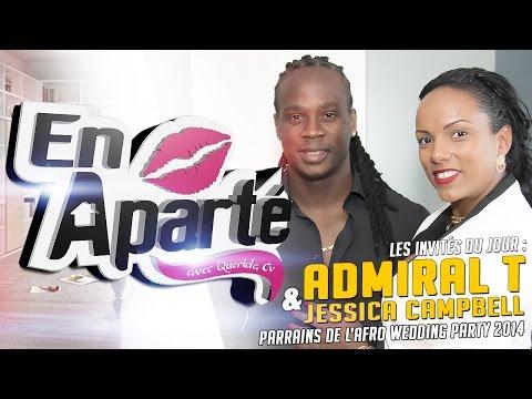 Admiral T & Jessica Campbell En Aparté Avec Querida CV S01 - Afro Wedding Party 2014