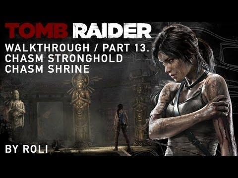 Tomb Raider (2013) 100% Walkthrough Part 13 - Chasm Stronghold & Chasm Shrine