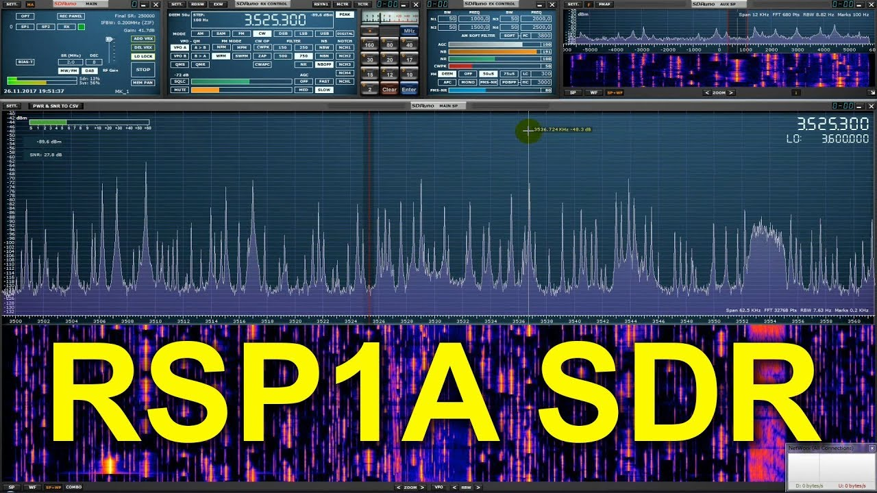 RSP1A SDR receiver and SDRuno software - CQ World Wide DX Contest (CW) 2017