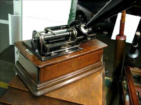 Edison home model d cylinder phonograph works for Edison home show