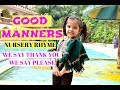 Good manners  Poem Rhymes | We say thank you we say please |kids learning videos preschool
