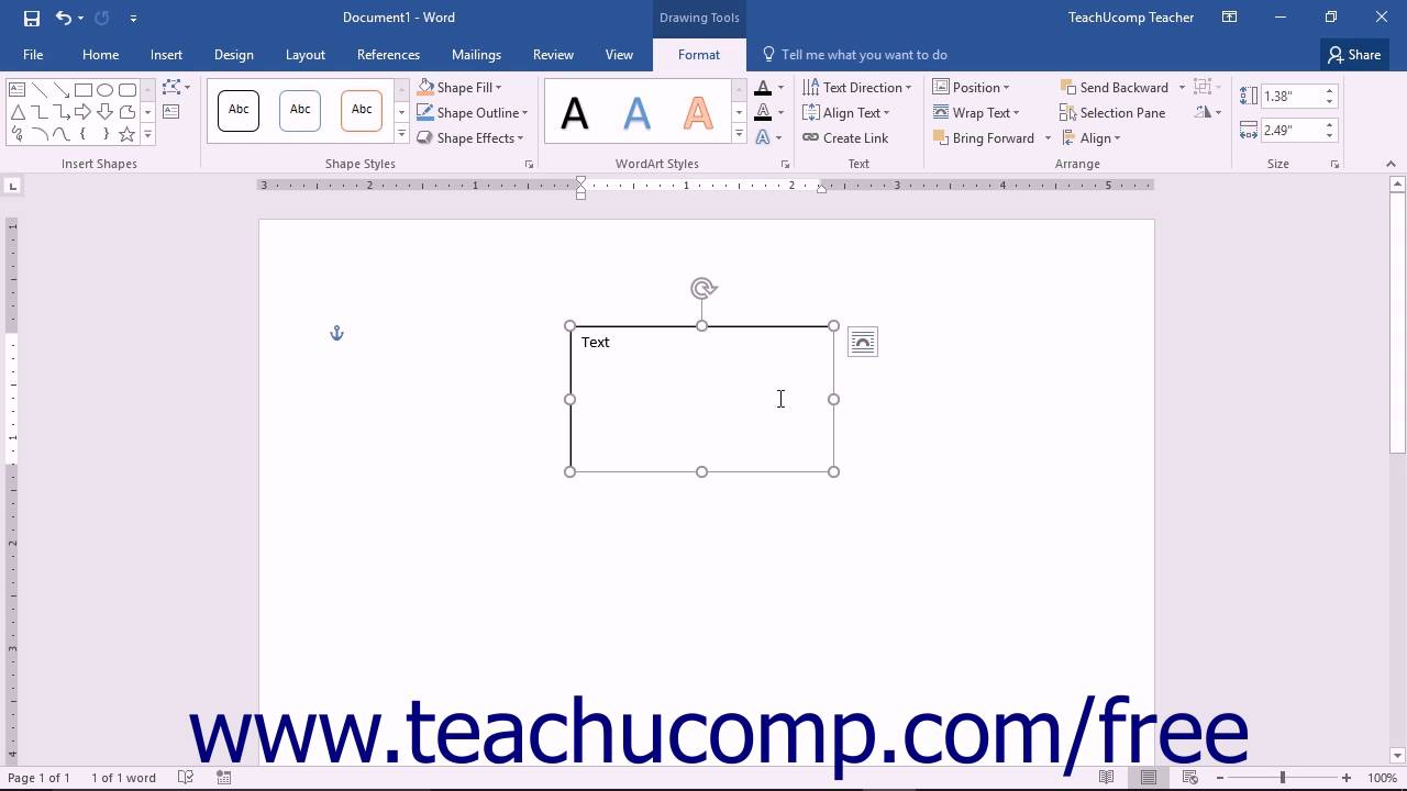 Word 2016 Tutorial Inserting Text Boxes Microsoft Training ...