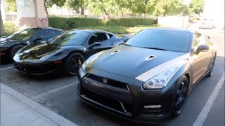0-100 LAUNCH NISSAN GTR vs..