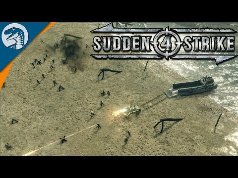 HISTORICAL D-DAY LANDING, AMERICAN PARATROOPERS DROP | Sudden Strike 4 - Allied Campaign Gameplay #1