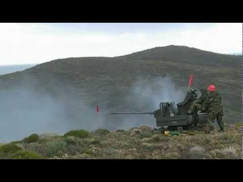 Rheinmetall Mk20 Rh202 Twin AA firing. HD video