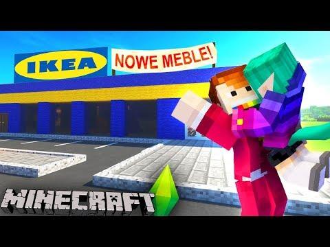 MINECRAFT SIMS #08 - Zupełnie NOWE MEBLE do domku!
