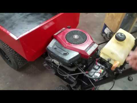 Homemade Power wheelbarrow lawn cart