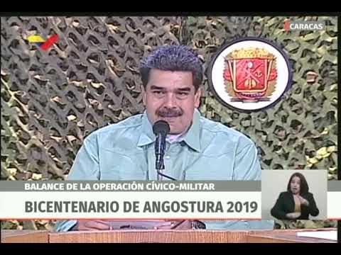 Maduro hace balance de ejercicios militares Bicentenario Angostura 2019