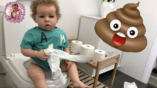 Обложка на видео - *REBORN TODDLER POTTY TRAINING DAY!* With Mitchel and Natalie