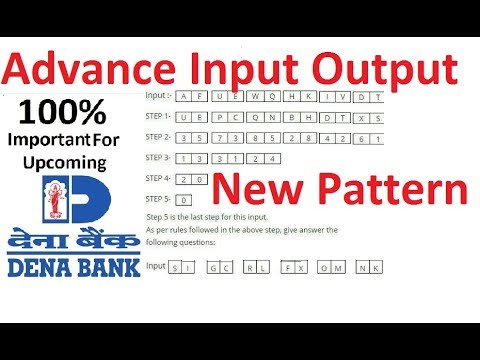 Input Output Advanced 2017 [New Pattern] Bank PO [Part- #1 ]