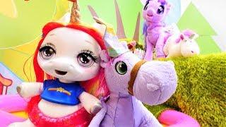 Unicorn oyuncak videoları. My Little pony  Minimus'u top oynamaya almıyorlar