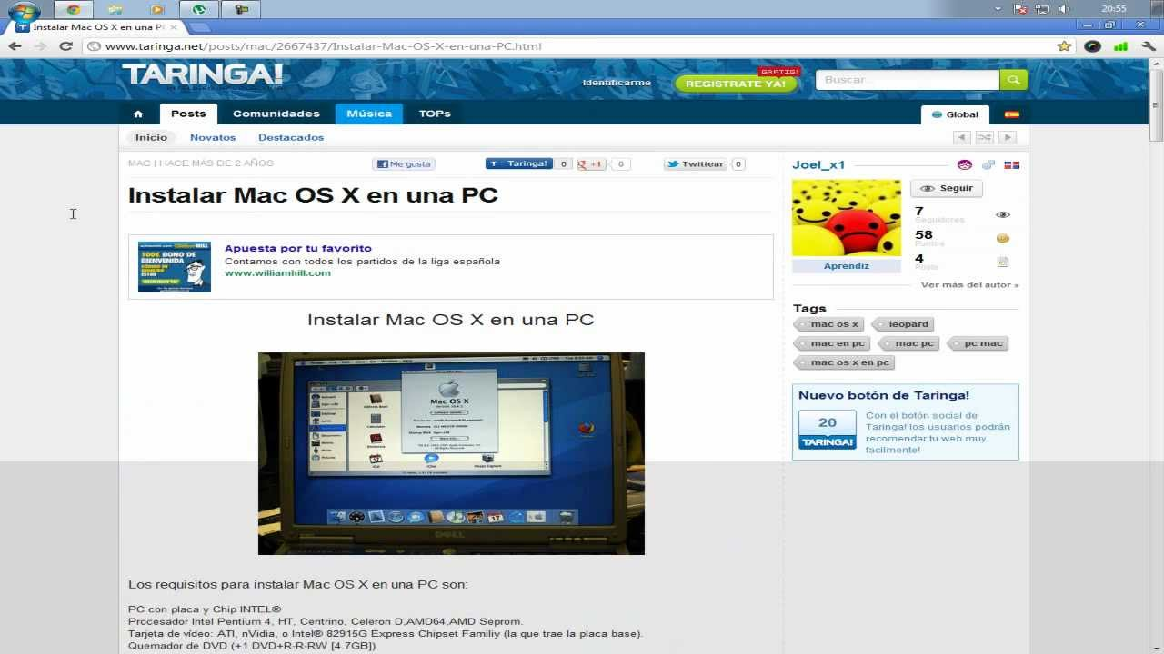 Como descargar mac os x para pc iso dvd youtube for Innenarchitektur mac os x