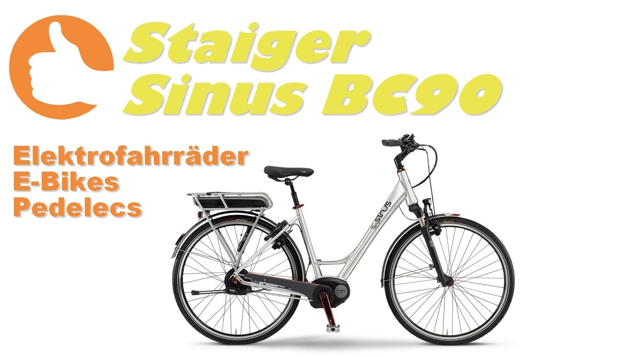 staiger sinus bc90 2015 e bike produktvideo youtube. Black Bedroom Furniture Sets. Home Design Ideas