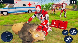 Ambulance Driving Simulator - Doctor Robot Emergency Animal Rescue Fighter - Android Gameplay #1