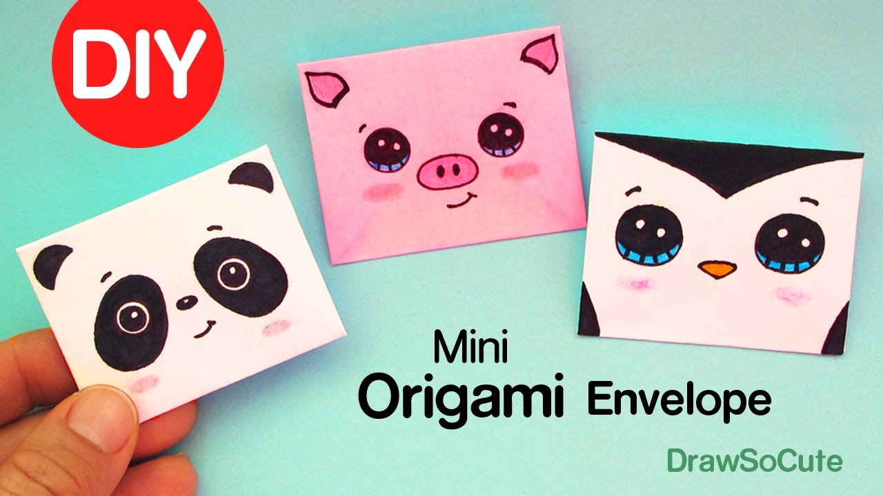 how to make a mini origami envelope super easy