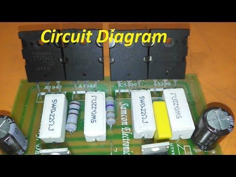 Transistor Circuit diagram of 2sa1943 and 2sc5200  how to make