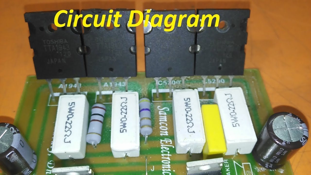 Transistor Circuit Diagram Of 2sa1943 And 2sc5200 Youtube 600 Watt Mosfet Power Amplifier With Pcb Diy