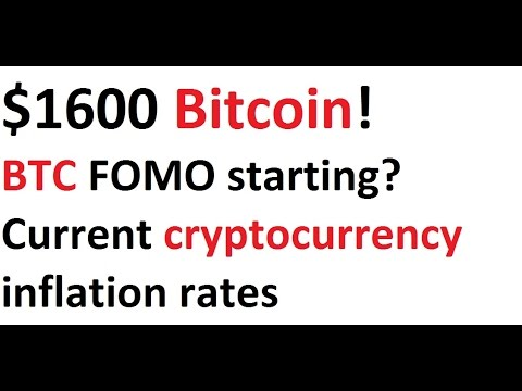 $1600 Bitcoin! BTC FOMO Starting? Current Cryptocurrency Inflation Rates