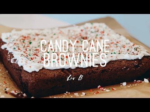 Candy Cane Brownies | vegan + gluten-free recipe | Liv B