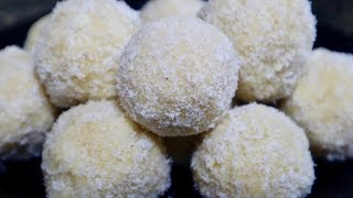 नारियल के लड्डू तो बहुत बनाये होंगे इस बार ऐसे बनाकर देखें Coconut Ladoo Recipe with Milk Powder