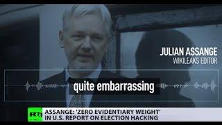 'Not an intelligence report'  WikiLeaks editor Julian Assange slams ODNI