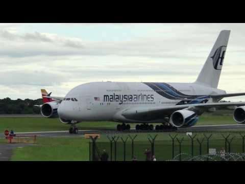 Malaysia Airlines A380-841 9M-MND | Manchester Airport | 15.07.2017 | Arrival