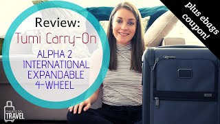 REVIEW OF THE TUMI ALPHA 2 INTERNATIONAL EXPANDABLE CARRY ON  -  PURCHASED ON EBAGS