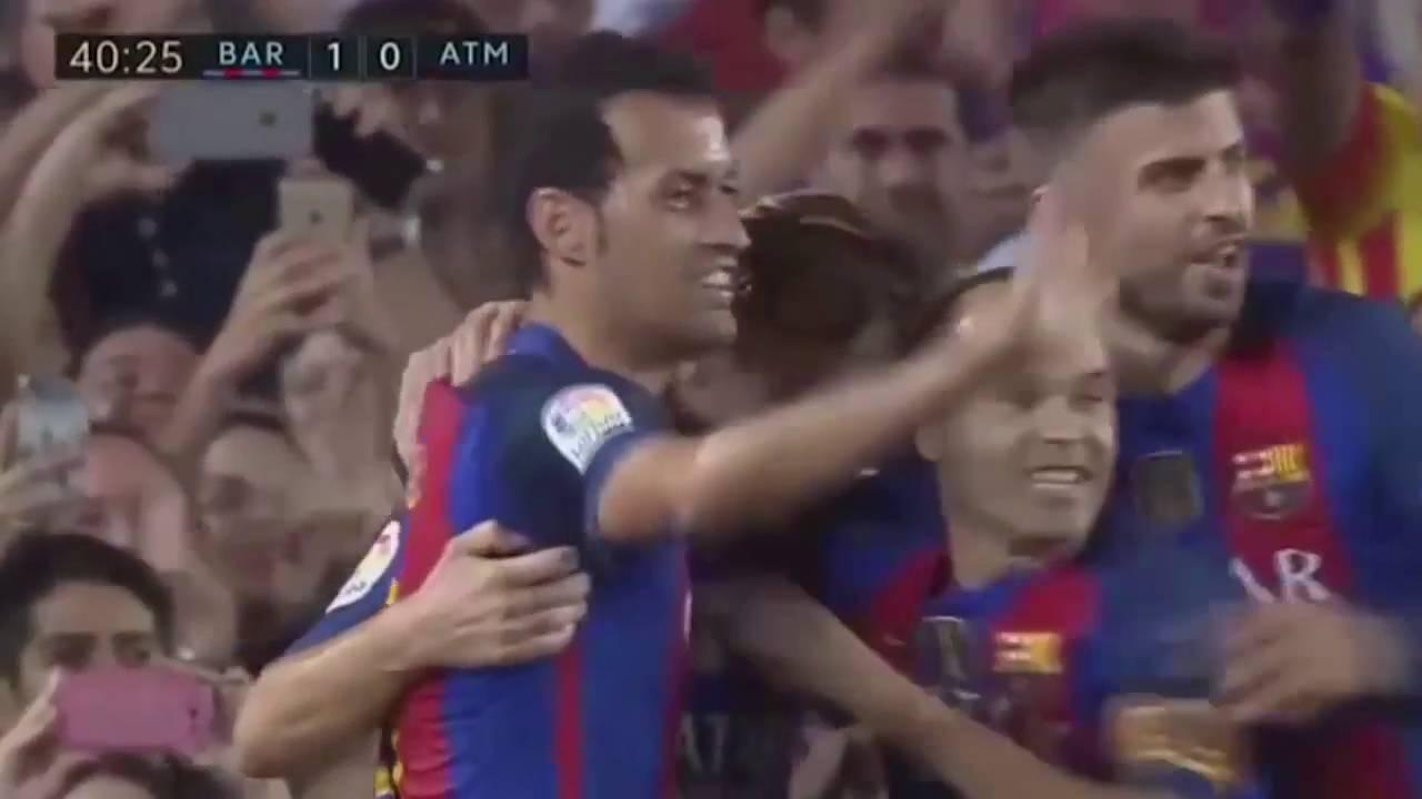 Атлетико мадрид барселона смотреть повтор матча