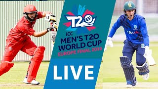 LIVE CRICKET - ICC Men's T20 World Cup Europe Final 2019 - Denmark vs Italy. Match starts 15.45