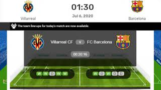 Barcelona vs villarreal la liga live this match will be played at spain and start 6th july 2020. comm...