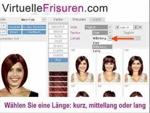 Frisuren Simulation Online Haare Schneiden YouTube