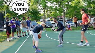 Sideline HATERS Wanted Me To LOSE! 5v5 Basketball At Random Park!