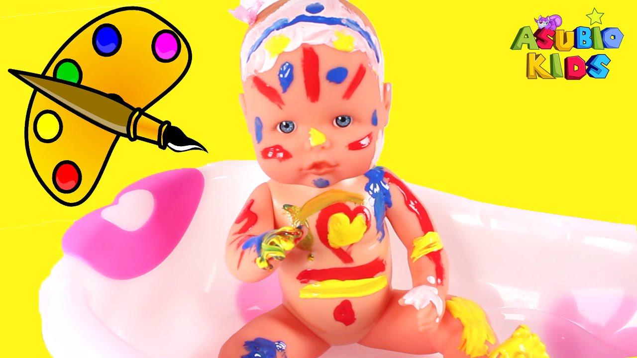 Beb nenuco ba o pintura pintando la beb de colores - Nenuco bano ...