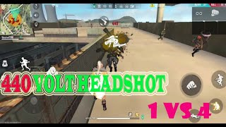 SOLO VS SQAUD FREE FIRE 440 volt headshot\factory fight very rush gameplay|king gamer