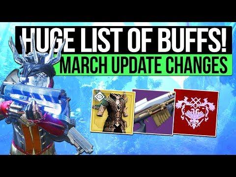 Destiny 2 News | GO FAST SANDBOX GAMEPLAY! March Update, Weapon & Mod Buffs, Teamshot Change & More! thumbnail