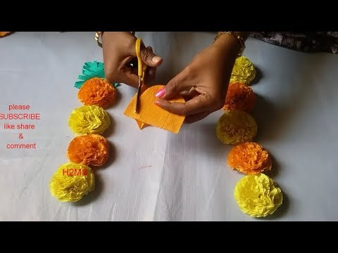 How to make simple rose and marigold flowers /2 diy hand made paper craft ideas/eco friendly flowers