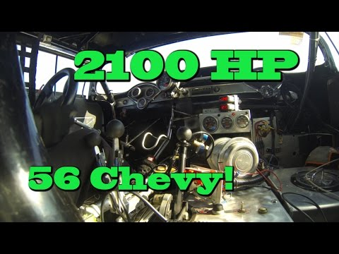 E85 2100 HP 56 Chevy Bel Air at the Drag Strip.  Nelson Racing Engines.  NRE TV Episode 224.