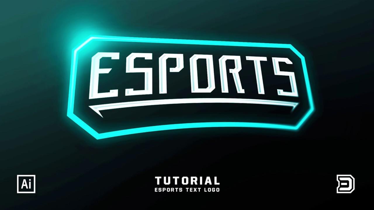 eSports Gaming Text Logo | Adobe Illustrator Tutorial ...