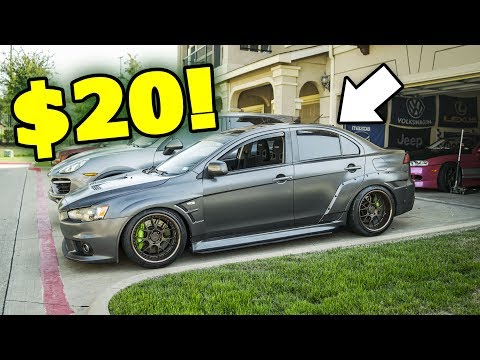 $20 DIY Vortex Generator mod ANYONE CAN DO! (Evo X)